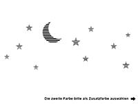 Wandtattoo Mond Wolken und Sterne Motivansicht