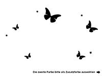 Wandtattoo Prinzessin mit Name und Schmetterlingen