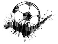 Wandtattoo Fußball Splash Motivansicht