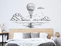 Wandtattoo Ballonfahrt übers Meer | Bild 2