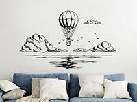 Wandtattoo Ballonfahrt übers Meer | Bild 3