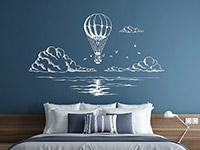 Wandtattoo Ballonfahrt übers Meer | Bild 4
