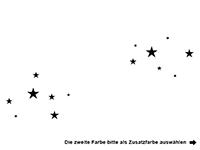 Wandtattoo Wunschname mit Sternen Motivansicht