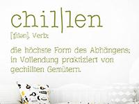 Wandtattoo Definition Chillen im Kinderzimmer