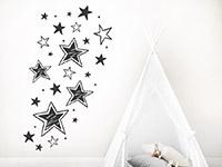 Wandtattoo Vintage Sterne