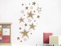 Wandtattoo Vintage Sterne im Kinderzimmer