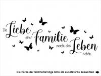 Wandtattoo Die Liebe einer Familie Motivansicht