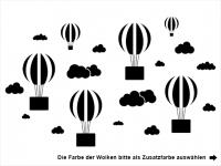 Wandtattoo Fotorahmen Heißluftballons Motivansicht