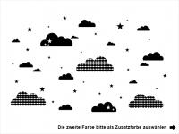 Wandtattoo Verspielte Wolken und Sterne Motivansicht