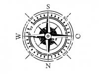 Wandtattoo Kompass für die Decke