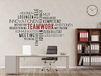 Wandtattoo Wortwolke Teamwork | Bild 3