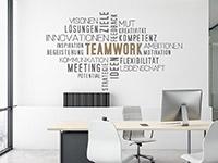 Wandtattoo Wortwolke Teamwork | Bild 4