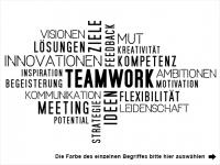 Wandtattoo Teamwork Begriffe Motivansicht
