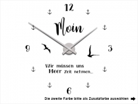 Wandtattoo Uhr Moin Motivansicht
