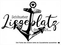 Wandtattoo Schönster Liegeplatz mit Anker