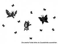 Wandtattoo Fröhliche Schmetterlinge Motivansicht