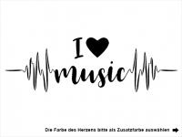 Wandtattoo I love music Motivansicht