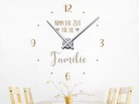 Wandtattoo Uhr Zeit für die Familie in der Küche