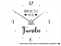 Wandtattoo Uhr Zeit für die Familie Motivansicht
