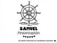 Wandtattoo Piratenkapitän mit Wunschname Motivansicht