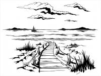 Wandtattoo Urlaub am Meer Motivansicht