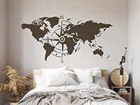 Wandtattoo Kompass Weltkarte   Bild 3
