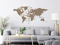 Wandtattoo Kompass Weltkarte   Bild 4