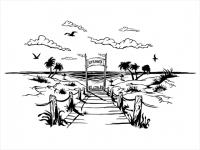 Wandtattoo Traumhafter Weg zum Strand Motivansicht