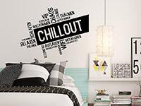 Wandtattoo Moderne Chillout Wortwolke | Bild 4
