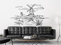 Wandtattoo Landschaft mit Windmühle | Bild 3