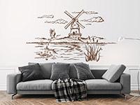 Wandtattoo Landschaft mit Windmühle   Bild 4