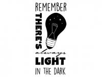Wandtattoo Always light in the dark Motivansicht