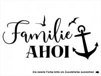 Wandtattoo Familie Ahoi Motivansicht