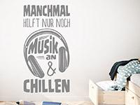 Wandtattoo Musik an und chillen im Kinderzimmer