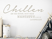 Wandtattoo Chillen und Nichtstun im Kinderzimmer