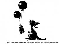 Wandtattoo Süßes Känguru mit Ballons Motivansicht