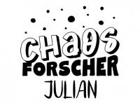 Wandtattoo Chaosforscher mit Name Motivansicht