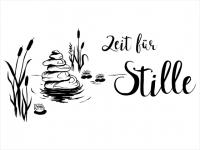 Wandtattoo Schilflandschaft Zeit für Stille Motivansicht