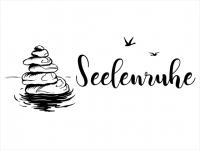 Wandtattoo Seelenruhe mit Zen Steinen Motivansicht