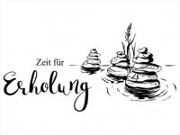 Wandtattoo Zeit für Erholung mit Zen Steinen Motivansicht