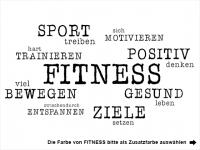 Wandtattoo Fitness Gesundheit Sport Motivansicht