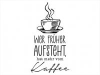 Wandtattoo Kaffee für Frühaufsteher Motivansicht