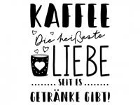 Wandtattoo Heiße Liebe Kaffee Motivansicht