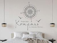 Wandtattoo Folge dem Kompass | Bild 3