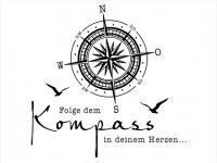 Wandtattoo Kompass in Deinem Herzen Motivansicht