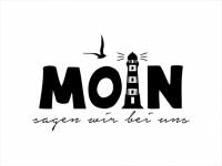 Wandtattoo Moin mit Leuchtturm Motivansicht