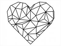 Wandtattoo Herz Origami Style Motivansicht