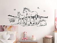 Wandtattoo Pferde auf Koppel | Bild 2