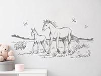 Wandtattoo Pferde auf Koppel | Bild 3
