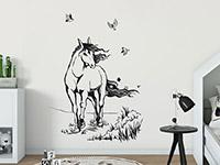 Wandtattoo Pferd mit wehender Mähne | Bild 3